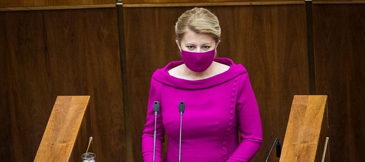 Zuzana Čaputová při projevu v Národné radě SR
