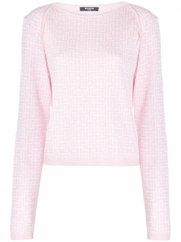 Světle růžový svetřík