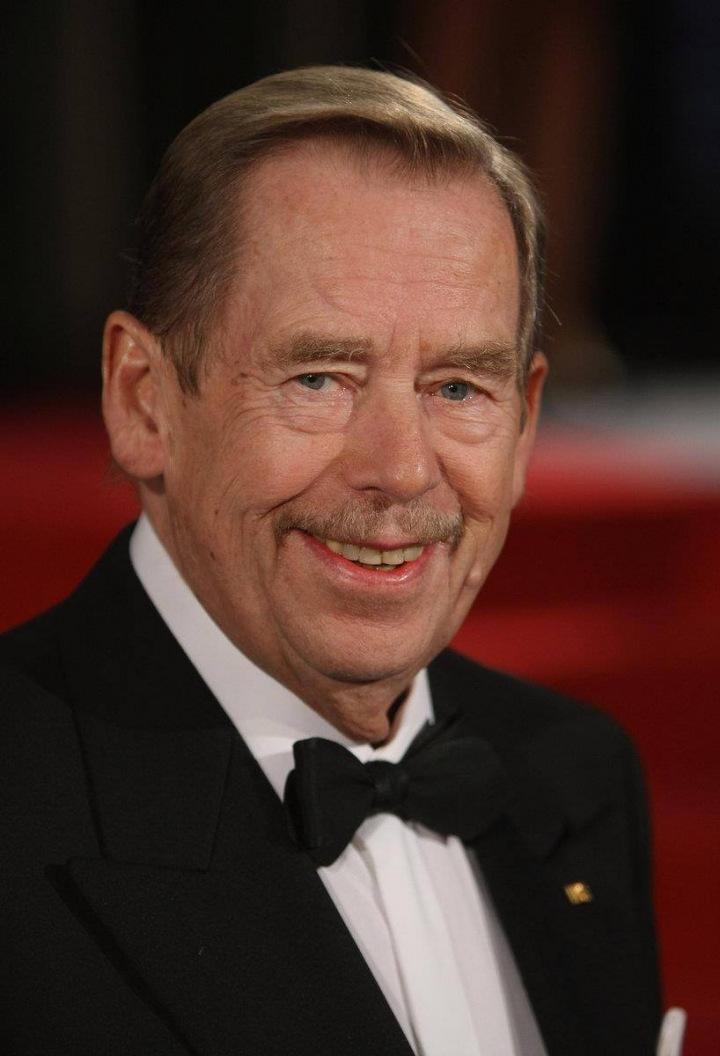 Národem milovaný prezident Václav Havel.