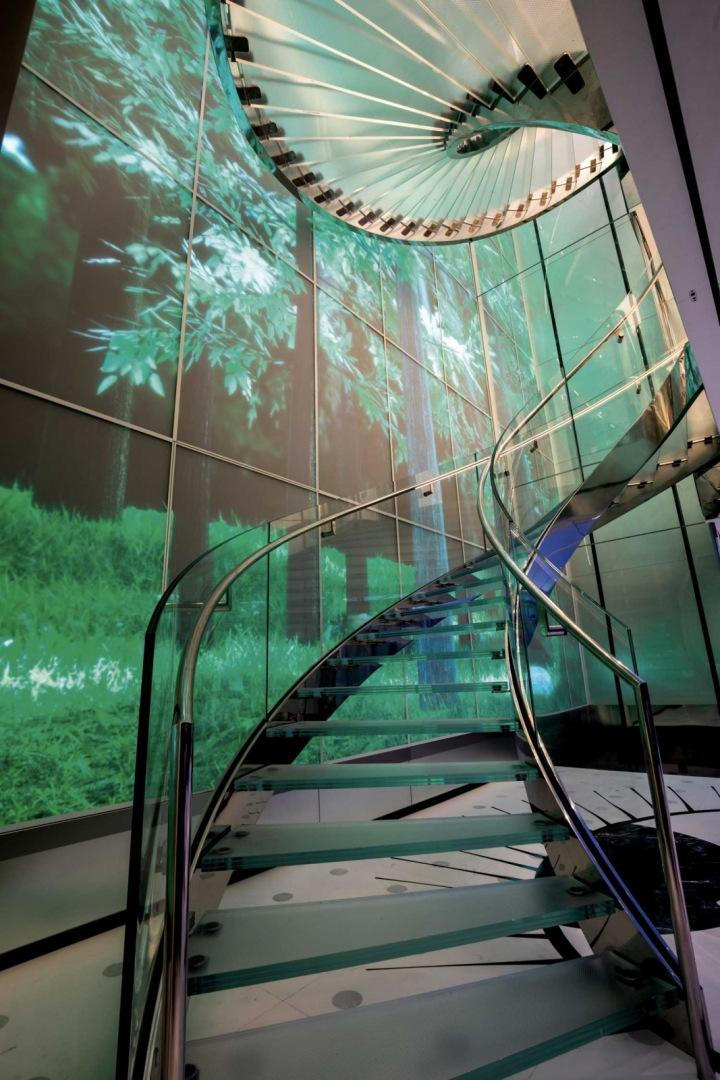 Pohybující se vizualizace - les