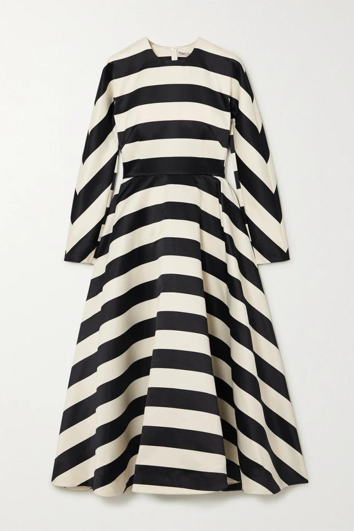 Pruhované šaty Emilia Wickstead