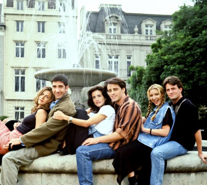Aniston s kolegy z Přátel