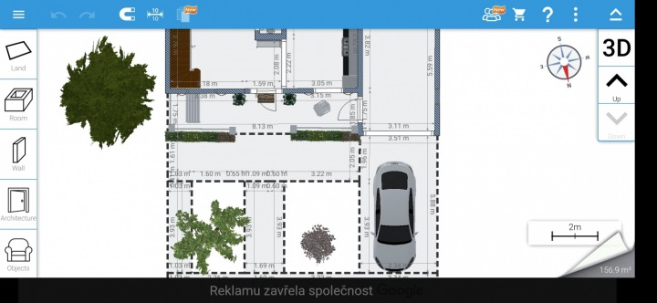 Aplikace Home Design 3D, návrh