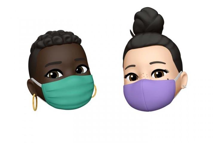 Apple emojis s rouškami
