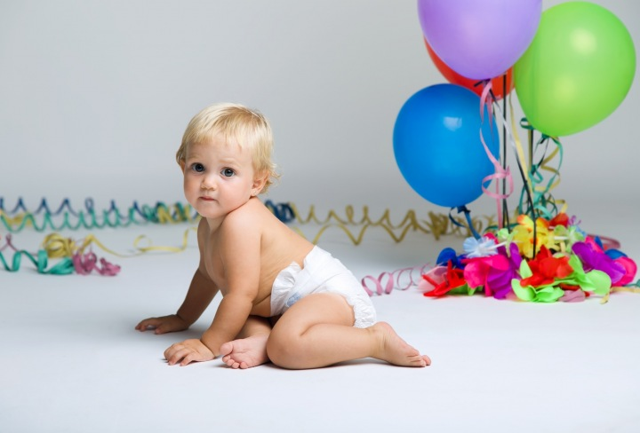 Blonďaté miminko