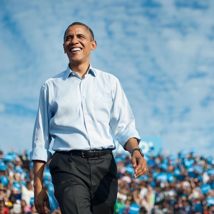 Barack Obama v košili