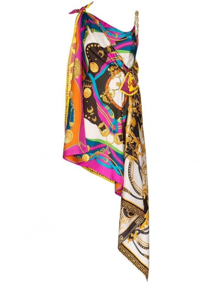 Barevné mini šaty Versace