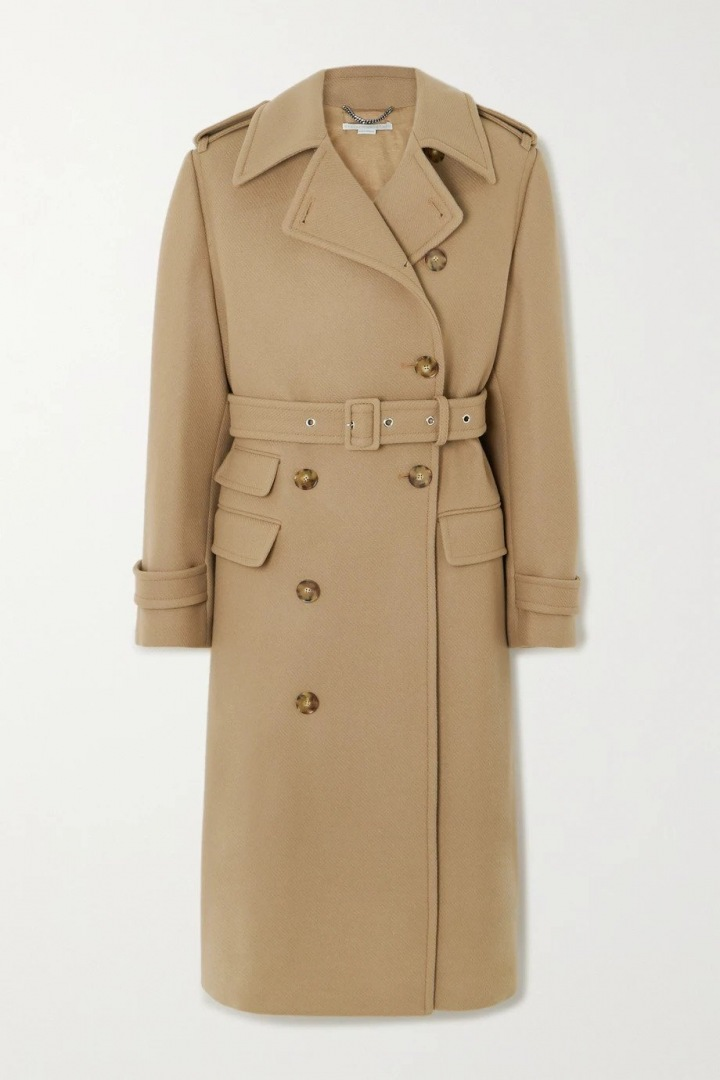 Béžový kabát Stella McCartney
