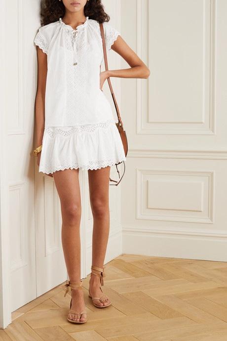 Bílá krajková sukně Michael Kors