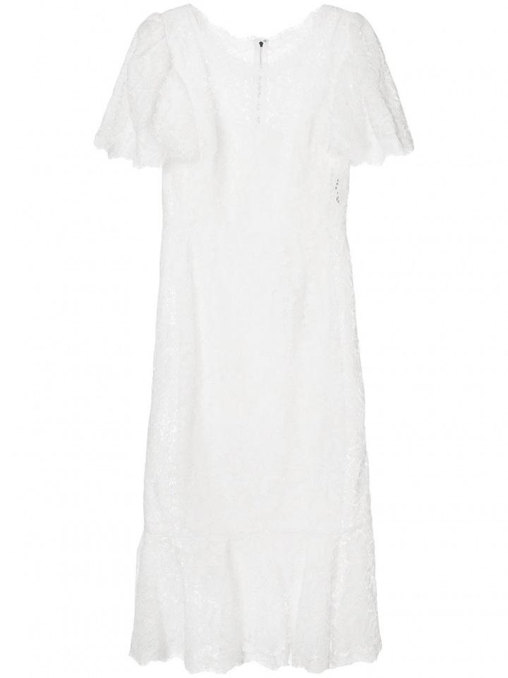 Bílé krajkové šaty Dolce & Gabbana