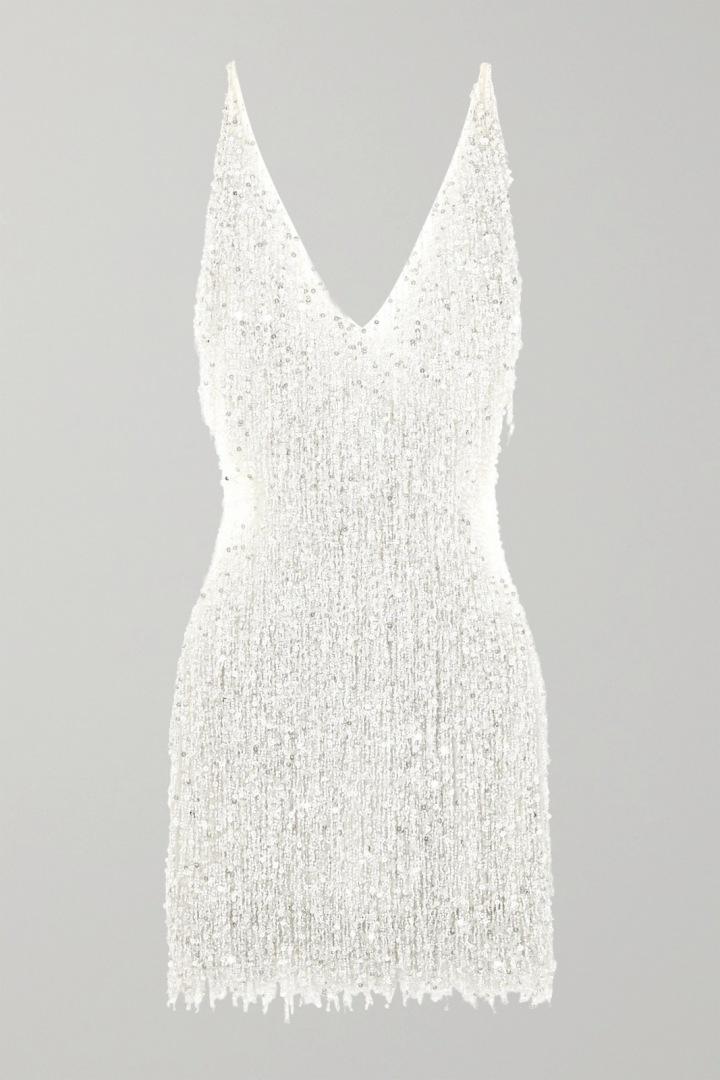 Bílé party šaty Naeem Khan