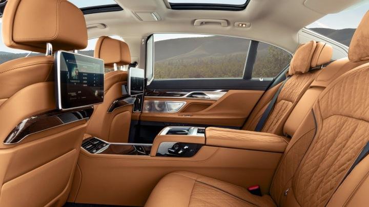 BMW řady 7 interiér