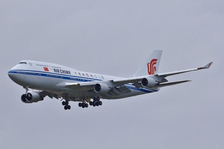 Letadlo Boeing, patřící čínskému prezidentovi