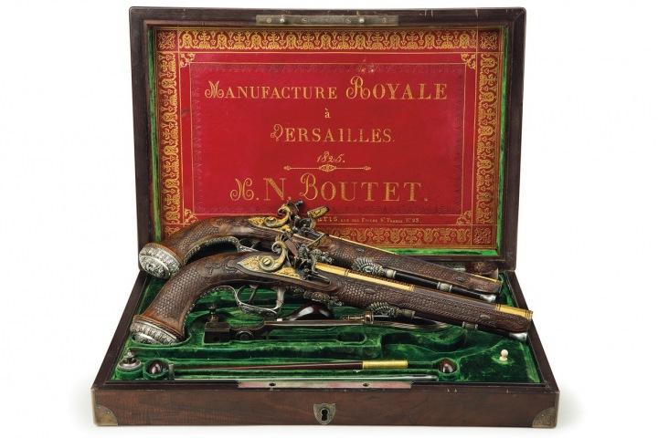 Set pistolí vydražených na aukci za 1,9 mil. dolarů