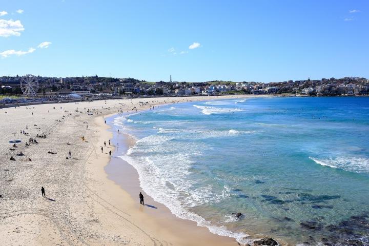 Bondi beach v Sydney.