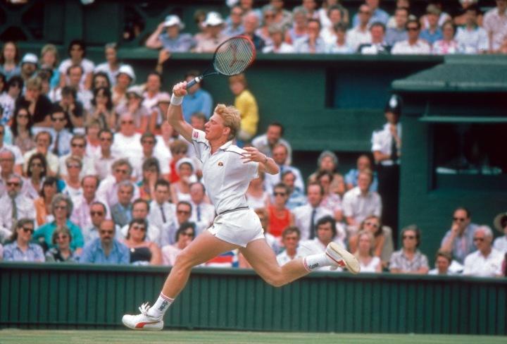 Boris Becker na svém oblíbeném Wimbledonu