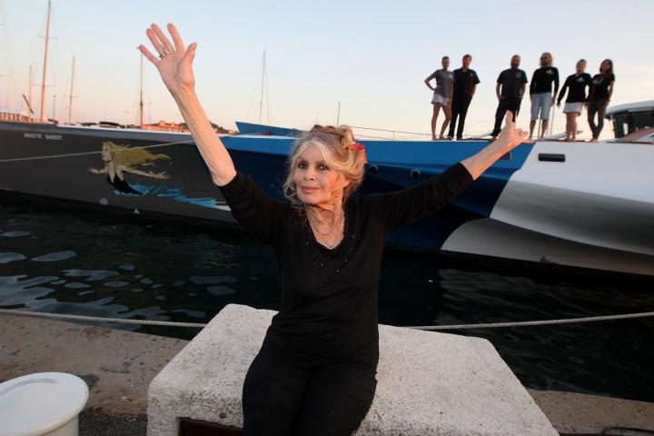 Brigitte Bardot u lodě