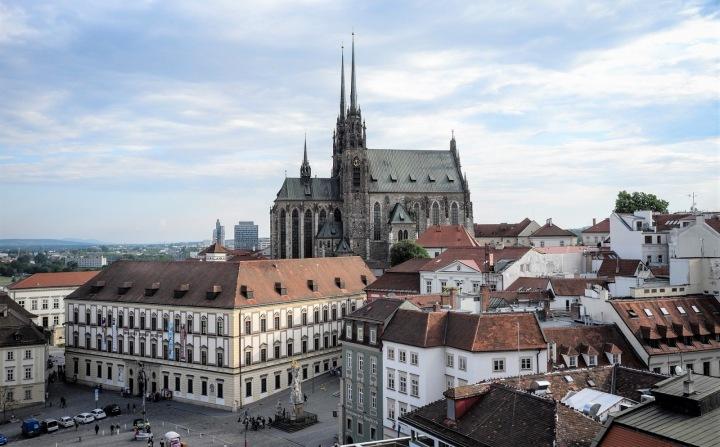 Výhled na centrum Brna.
