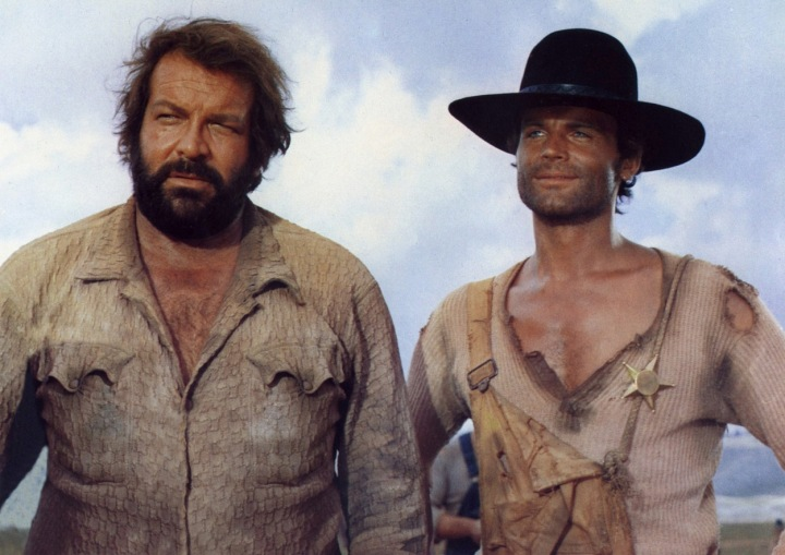 Bud Spencer a Terence Hill ve filmu.