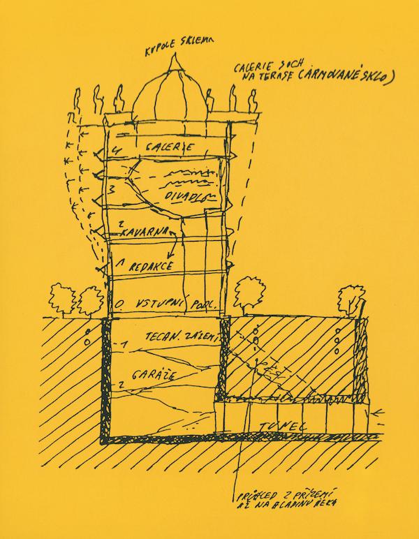 První návrh architekta Vlada Milunice.