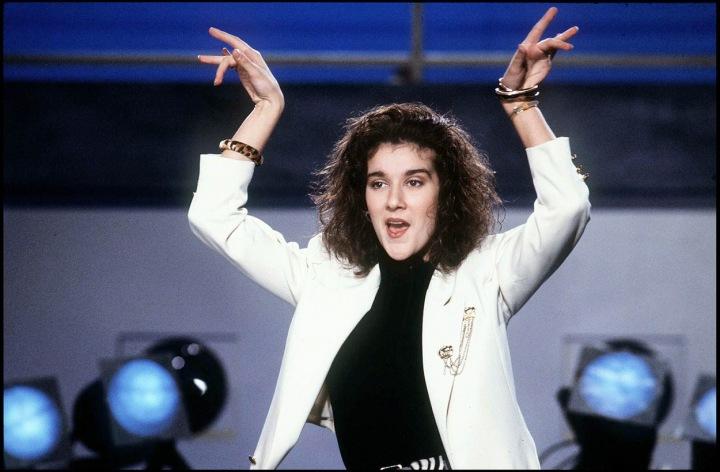 Celine Dion v roce 1987.