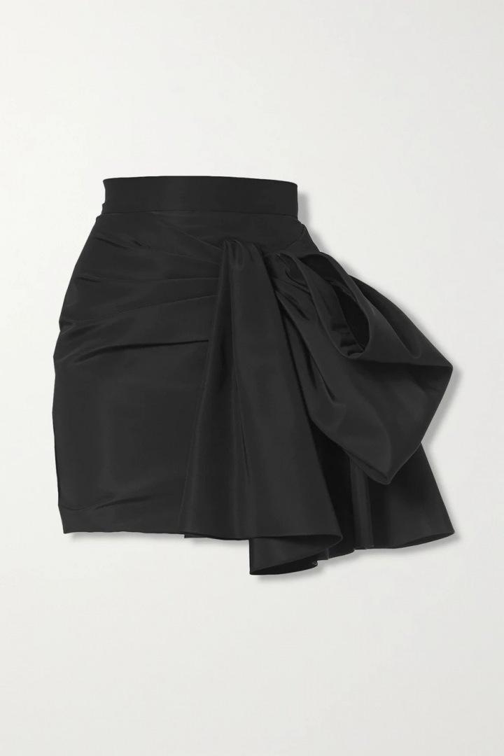 Černá mini sukně Carolina Herrera