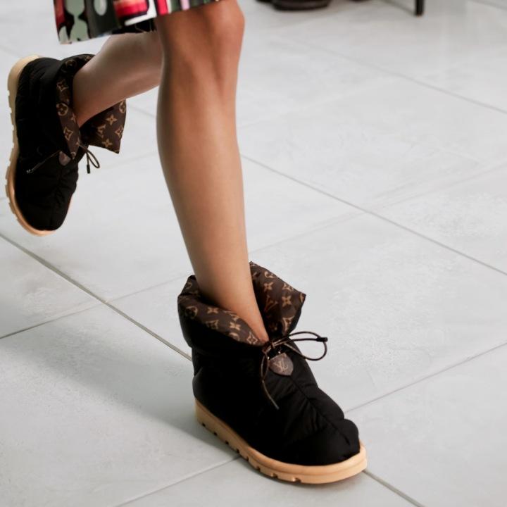 Černé boty Louis Vuitton
