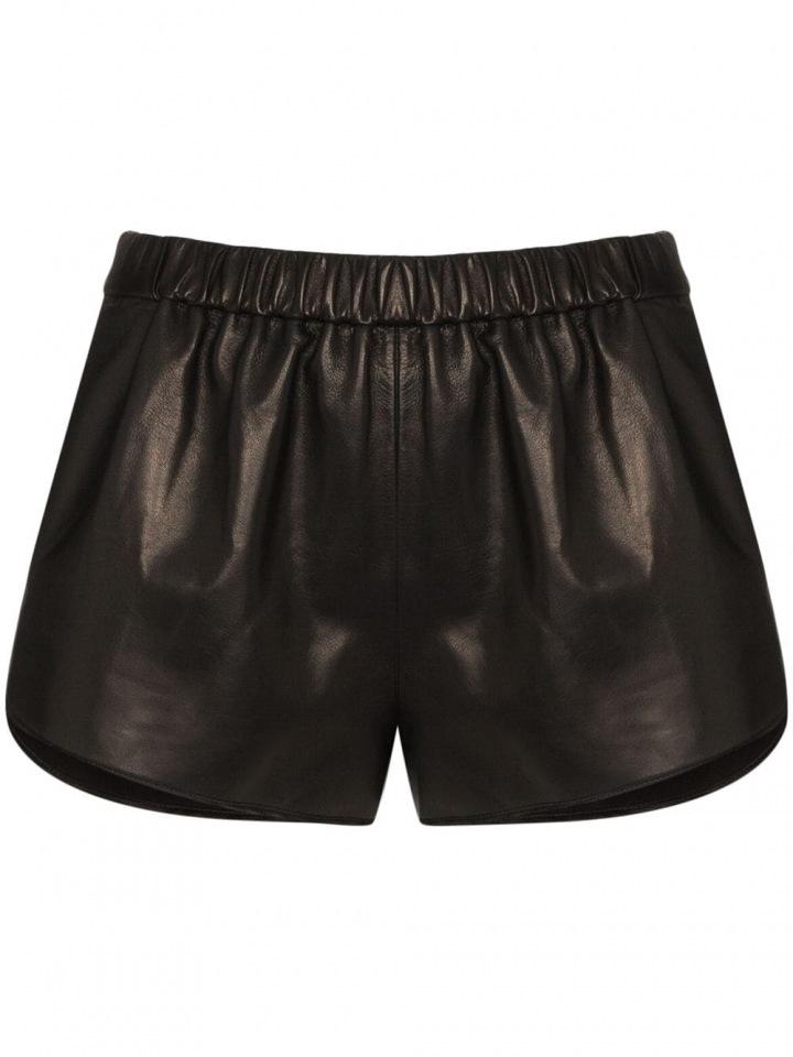 Černé kožené šortky Tom Ford