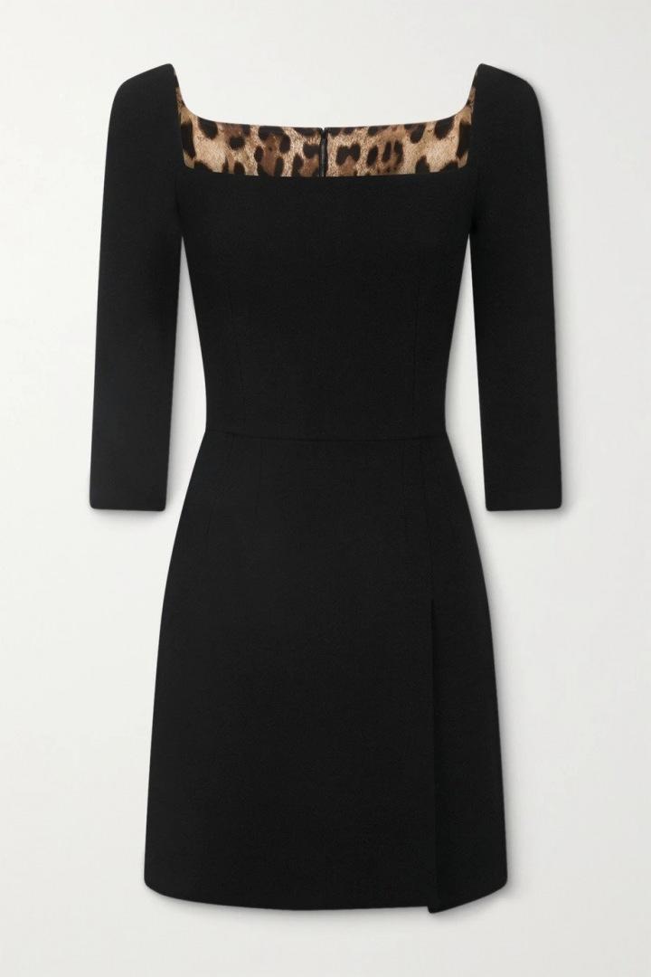 Černé mini šaty Dolce a Gabbana