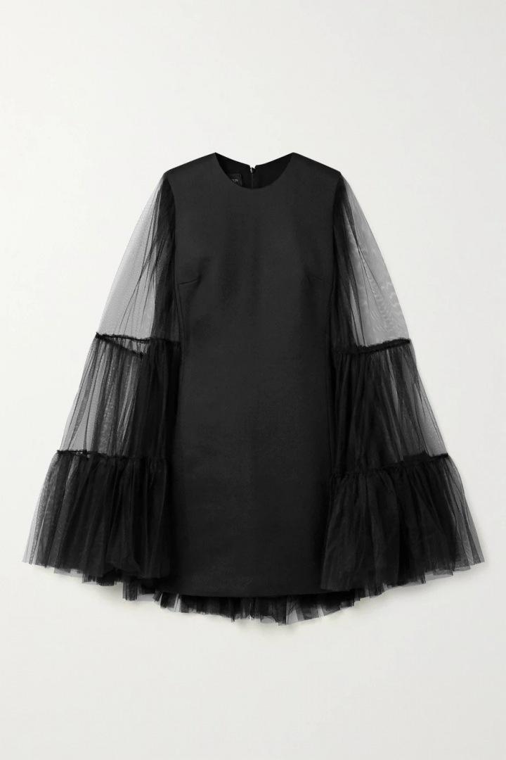 Černé mini šaty Giambattista Valli
