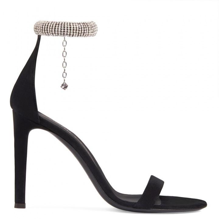 Černé sandálky Guiseppe Zanotti