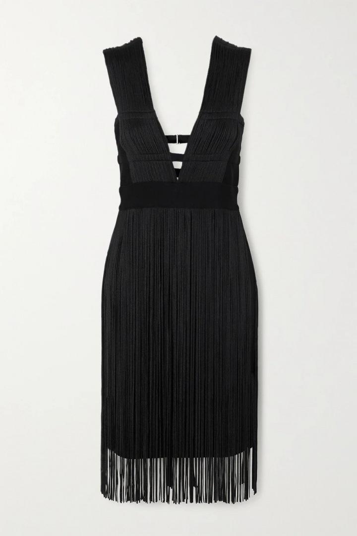 Černé šaty Hervé Léger