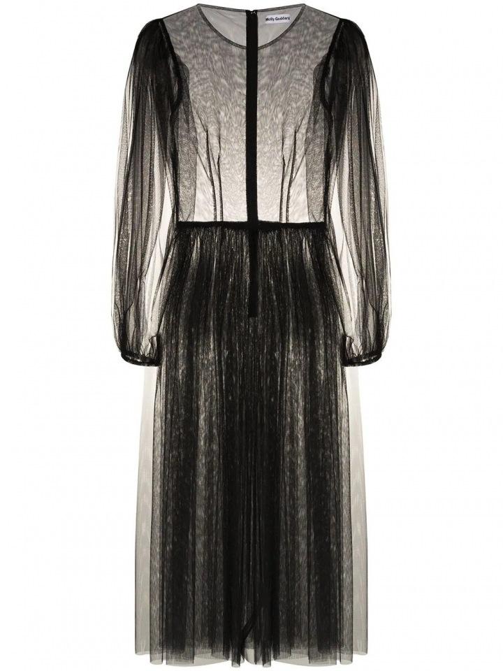 Černé šaty Molly Goddard