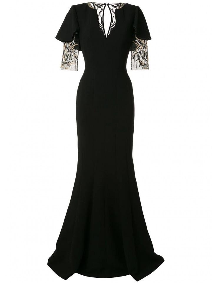 Černé šaty Kobeisy