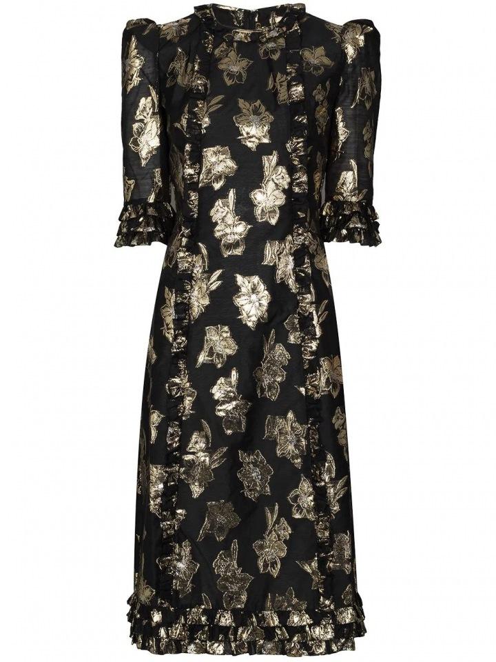 Černé šaty se zlatými akcenty The Vampire´s Wife