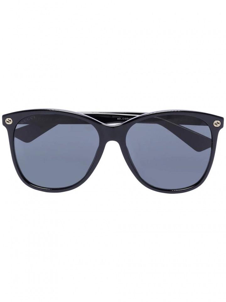 Černé sluneční brýle Gucci