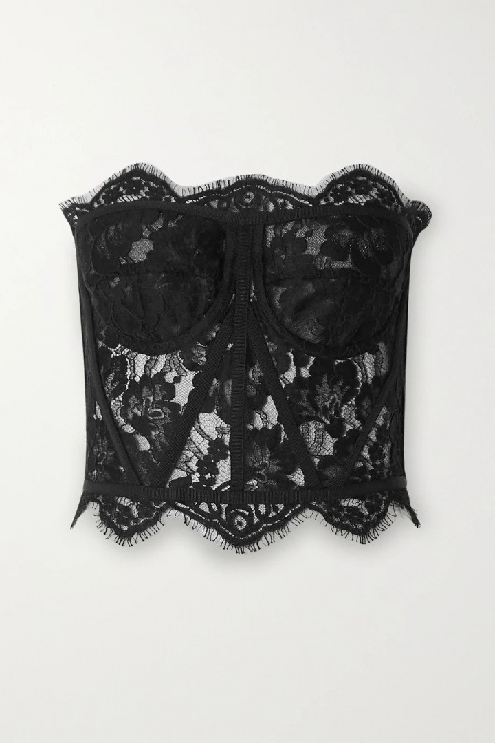 Černý krajkový korzet Dolce Gabbana