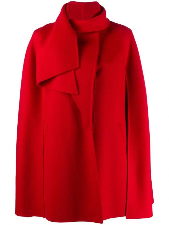 Červená pelerína Valentino