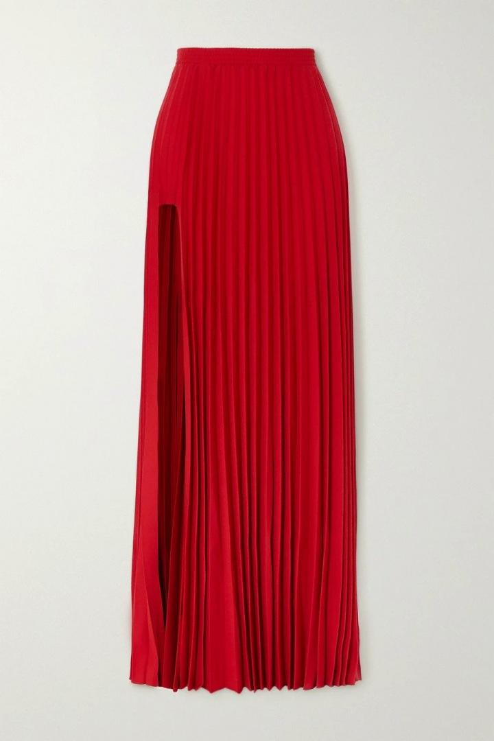 Červená plisovaná sukně Vetements