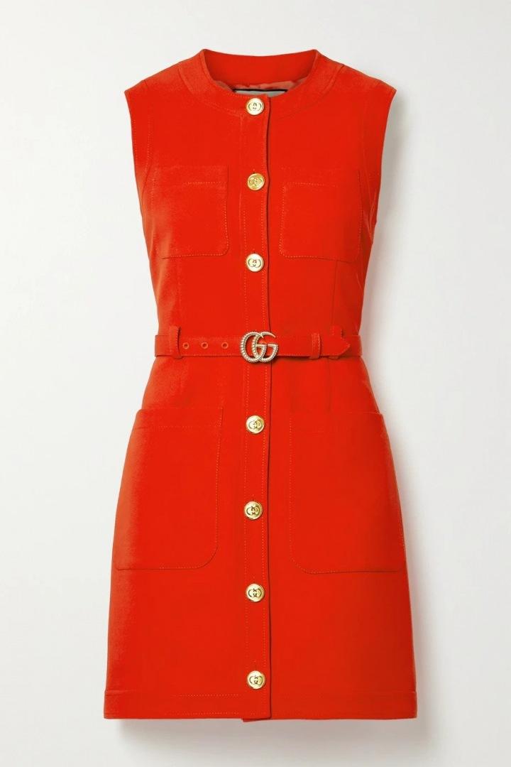 Červené mini šaty Gucci