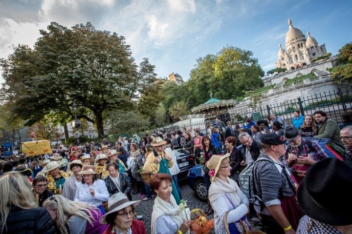 Festival Fête des Vendanges de Montmartre.