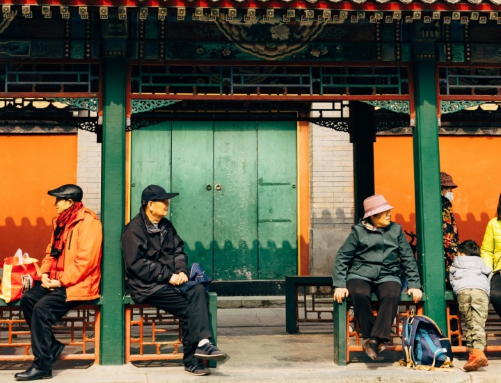 Lidé v Pekingu