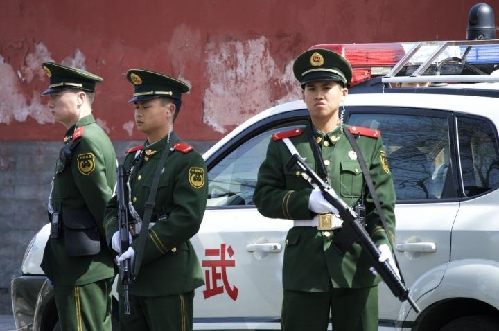 Policie v čínském Pekingu