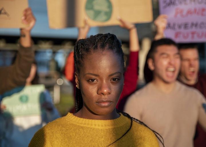 Žena na demonstraci