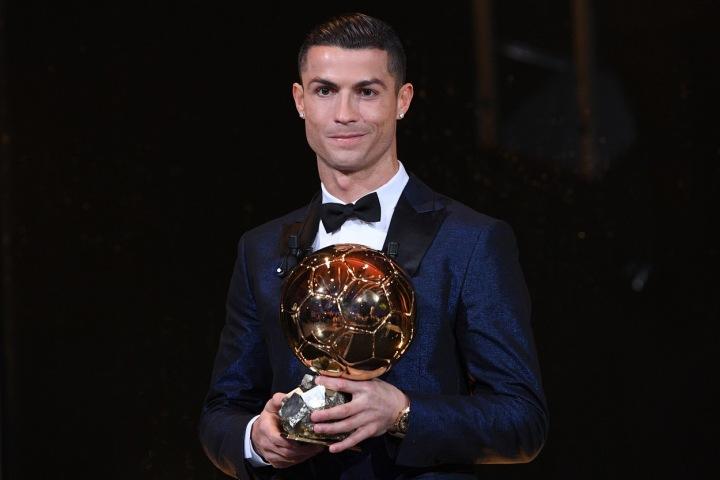 Cristiano Ronaldo s trofejí