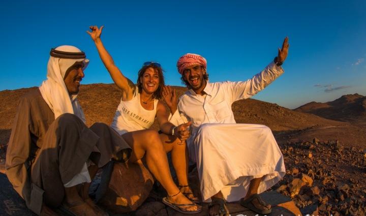 Splynout s davem a najít si přátele mezi domácími. Egypt, Sinaj.