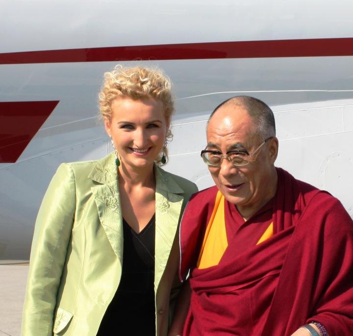 Antónia s nejvyšším představitelem Tibetu čtrnáctým dalajlámou