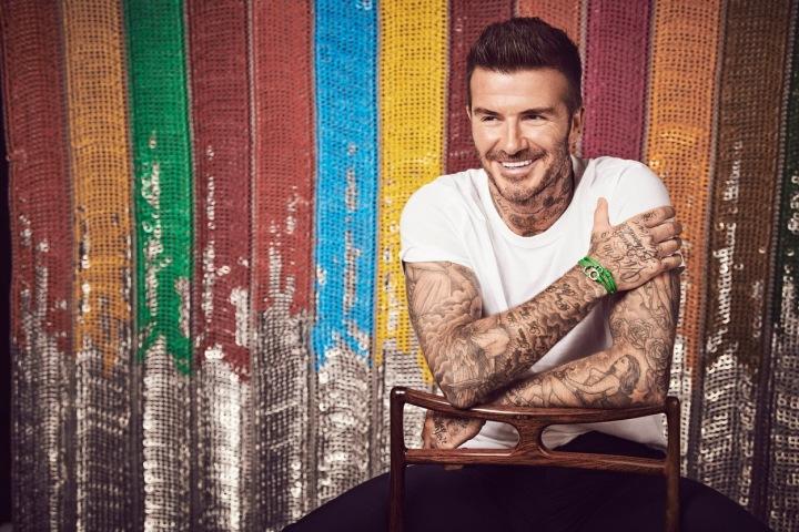 David Beckham - barevné pozadí
