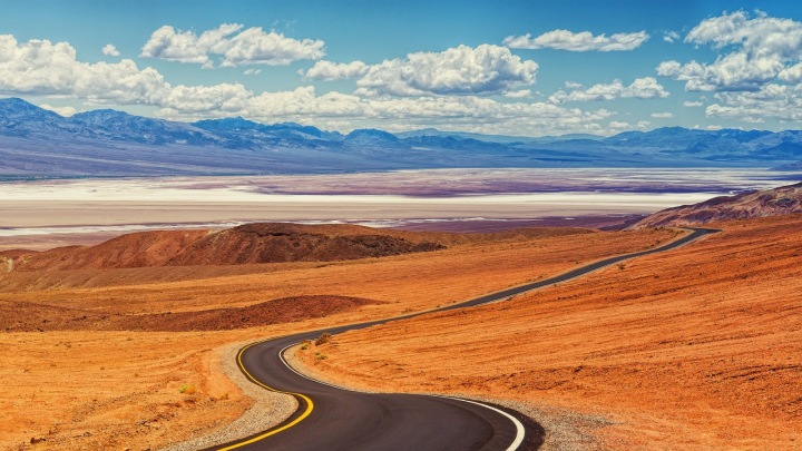 Silnice v Death Valley