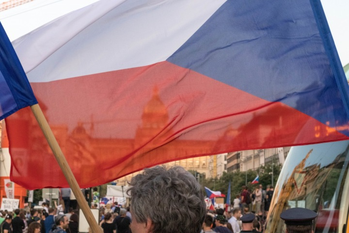 Demonstrace na pražském Václavském náměstí